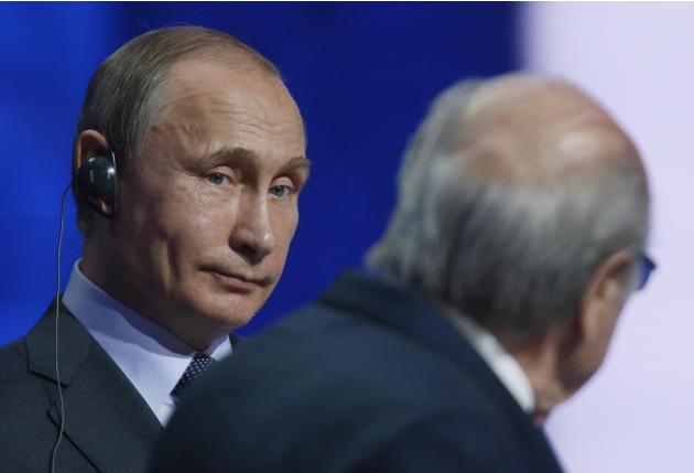 Sepp Blatter deserves the Nobel Prize, Vladimir Putin says