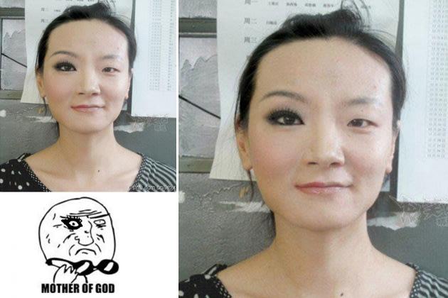 Vorher-Nachher: Die Macht von Make-up (Bilder: reddit.com)