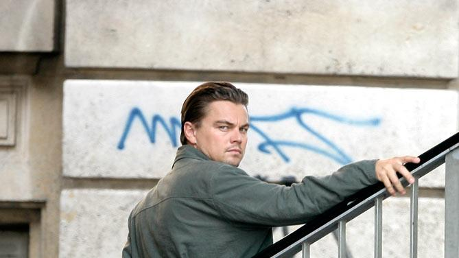 Dicaprio Leonardo Paris Film Set
