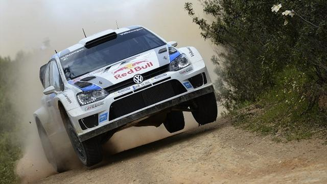 WRC - Ogier storms into early lead in Italy