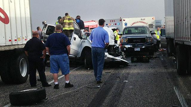 2 Dead, Dozens Hurt in 100-Car Pileup