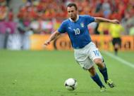 Italian forward Antonio Cassano during the Euro 2012 match against Spain on June 10. Cassano believes Italy coach Cesare Prandelli will continue his attacking approach as the Azzurri tackle Croatia in their second European Championship Group C match on Thursday