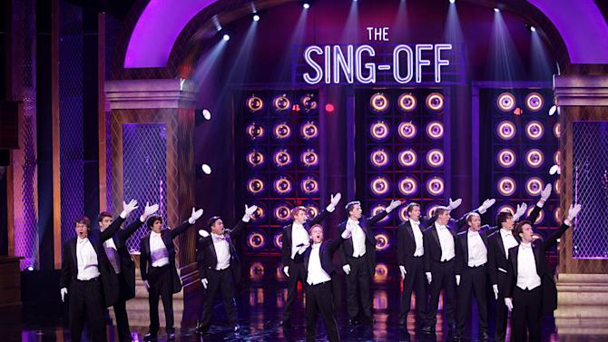 """The Whiffenpoofs of Yale on the second season of """"The Sing-Off."""" Comprising 14 senior Yale men, the """"Whiffs"""" were founded in 1909 and are the world's oldest collegiate a cappella group. What began as a quartet has grown into a group of international acclaim with a world tour that spans three months and features dozens of foreign destinations. Their repertoire incorporates modern hits as well as classics as old as the group itself."""