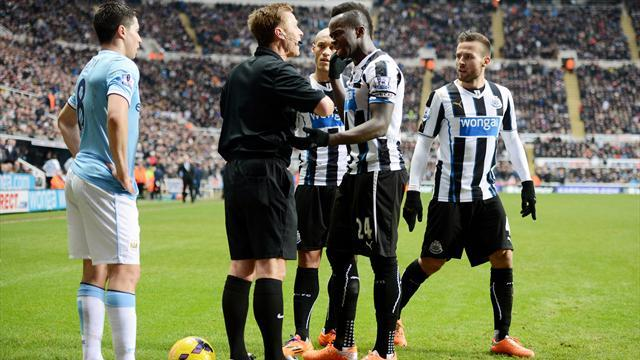 Premier League - City go top with controversial win at Newcastle