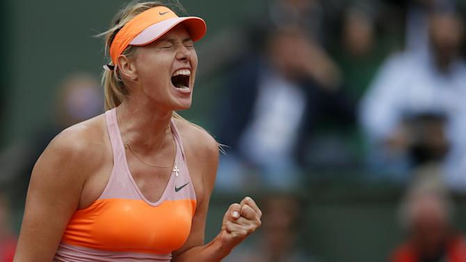 French Open - Sharapova on verge of third Paris final in a row