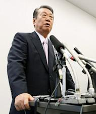 Former Democratic Party of Japan leader Ichiro Ozawa speaks during a press conference in Tokyo. Prime Minister Yoshihiko Noda's prized sales tax bill has passed Japan's lower house but a sizable rebellion and threatened party split left his future hanging in the balance