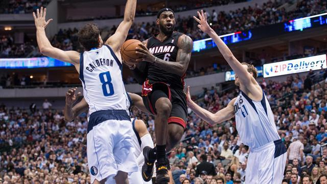 Basketball - James shrugs off All-Star exertions to propel Heat past Mavericks