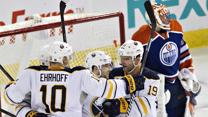 Conacher scores 2 as Sabres beat Oilers 3-1