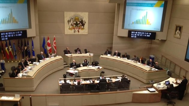 A much calmer Calgary city council is seen in this file photo. (CBC)