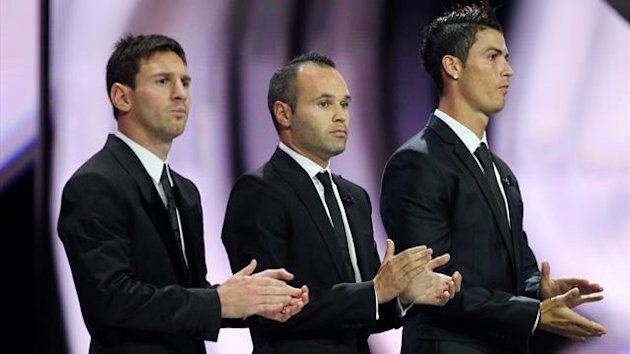 FOOTBALL 2012 Messi, Ronaldo et Iniesta