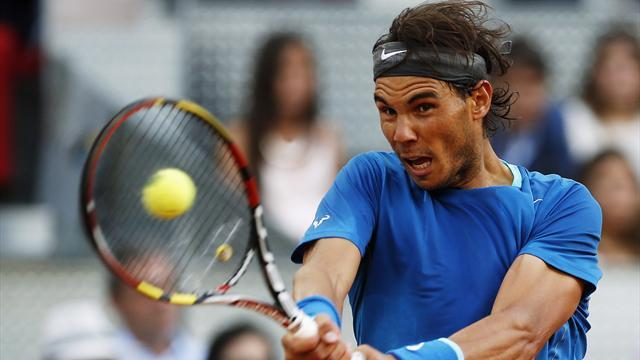 Tennis - Nadal wins Madrid title as injured Nishikori retires
