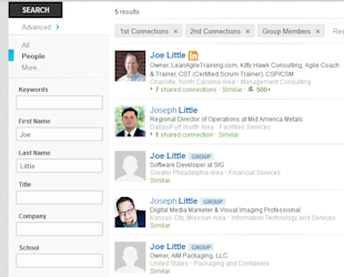 How to Find Someone on LinkedIn image LISearchResults