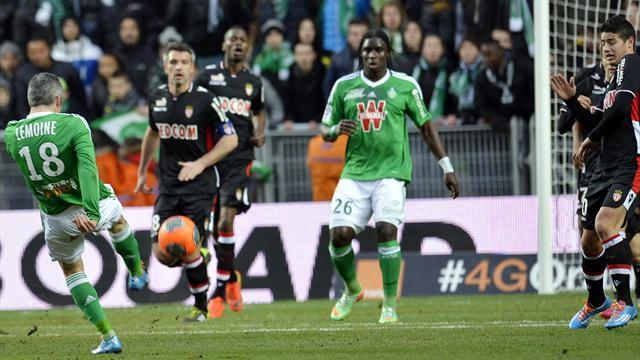 Ligue 1 - Monaco suffer first defeat of the year at St Etienne