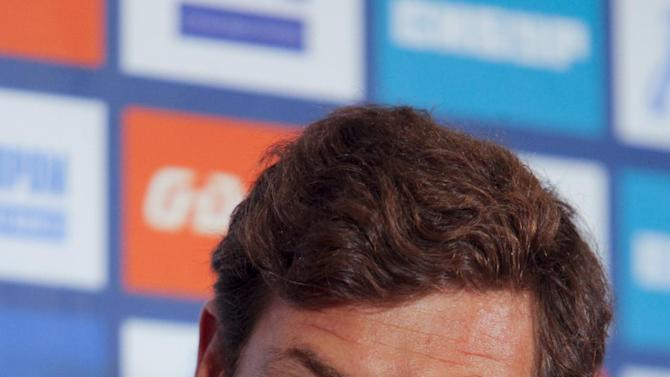 Andre Villas-Boas of Portugal attends a press conference as newly appointed head coach of Russia's Zenit St.Petersburg soccer club on Thursday, March 20, 2014 in St. Petersburg, Russia