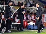 Lille's coach Rudi Garcia (R) is pictured during the friendly football match Lille vs Benfica at Saint Symphorien Stadium, on July 16, in Longeville-Les-Metz. Garcia on Thursday welcomed Paris Saint-Germain's signing of Swedish star Zlatan Ibrahimovic but lamented the fact they have not sought to sign more French players