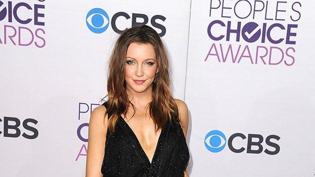 """WORST: Katie Cassidy.  The style """"Arrow"""" missed Cassidy at the People's Choice Awards. A black pantsuit with plunging neckline made the beauty look drab."""