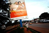 A 2011 billboard in Kampala, Uganda, promotes monogamous relationships to help stop the spread of the HIV virus. The rise in drug coverage in 2011 was accompanied by a 31% drop in deaths from AIDS-related causes in sub-Saharan Africa compared to the peak of the epidemic in 2005
