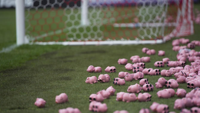Explained: Why little toy pigs halted game between Charlton and Coventry