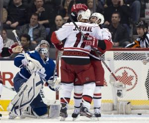 Jordan and Eric Staal lifts Canes over Maple Leafs