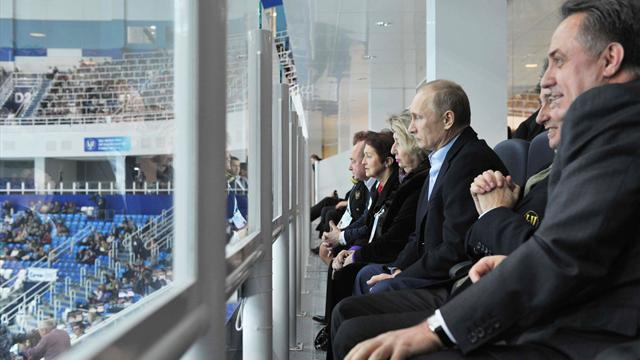 Figure Skating - Putin watches skaters test Olympic rink in Sochi