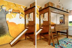 calvin and hobbes bedroom loft bed