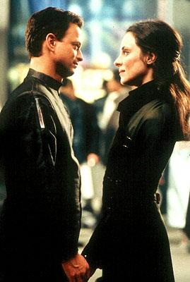 Gary Sinise and Madeleine Stowe in Dimension's Impostor