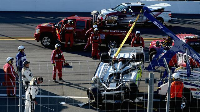 Motorsports - Practice day crash tests Daytona safety measures