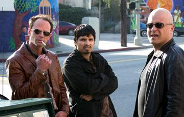 Walton Goggins, Michael Pena and Michael Chiklis FX's The Shield