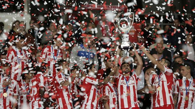European Football - Olympiakos win Greek Cup to complete domestic double