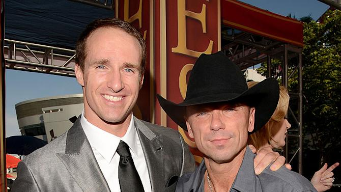 Drew Brees, Kenny Chesney
