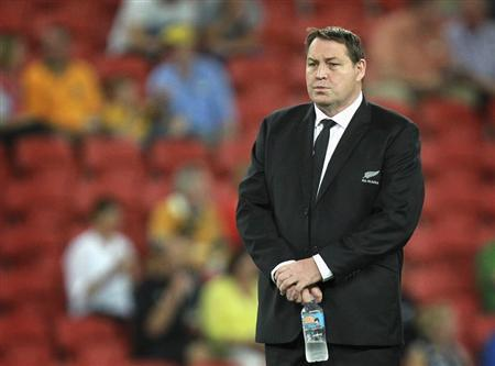 New Zealand All Blacks' coach Hansen stands on field before their Bledisloe Cup rugby union test match against Australian Wallabies in Brisbane