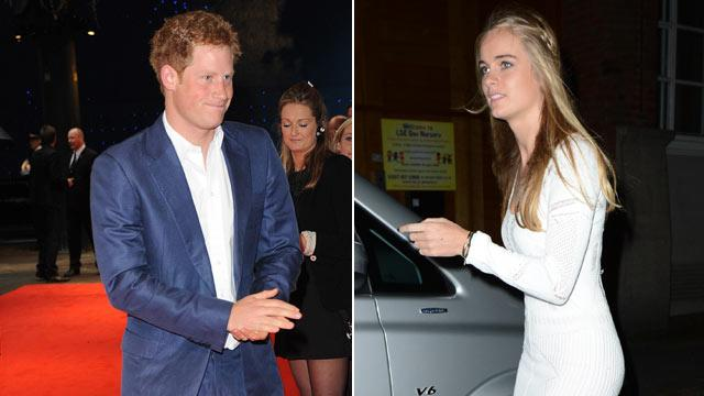 Prince Harry Spotted With Blonde Model