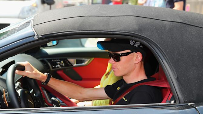 Chris Froome Presented with Jaguar F-TYPE