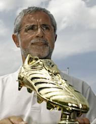 German football legend Gerd Mueller, pictured here in Berlin in 2006, set the 1972 record of 85 goals in a calendar year for Bayern Munich and West Germany