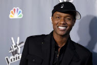 "FILE - In this June 29, 2011 file photo, Javier Colon, winner of the first season of the singing competition series ""The Voice,"" poses for photographers after the finale in Burbank, Calif. More than a year after his win, Colon is among the rapidly increasing number of reality singing contest winners who didn't go on to fame and fortune. Even as these shows proliferate the number of breakout stars from their ranks has dwindled. (AP Photo/Matt Sayles, File)"