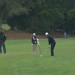 Graeme McDowell's approach to 4 feet yields birdie at The RSM Classic