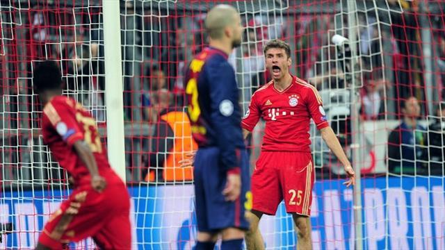 Champions League - Mueller keeps feet on the ground