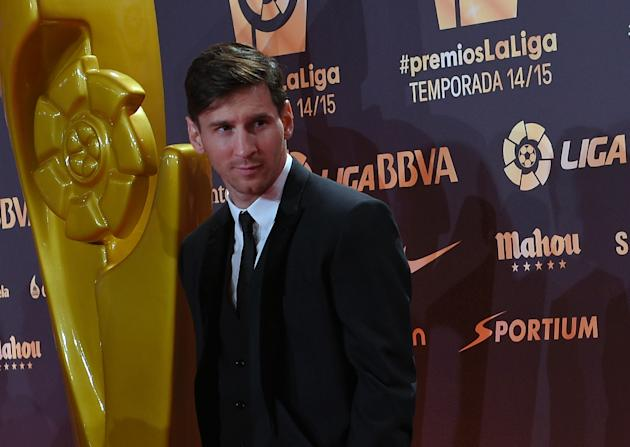 Barcelona's Argentinian forward Lionel Messi was voted the top striker in the Spanish league on November 30, 2015