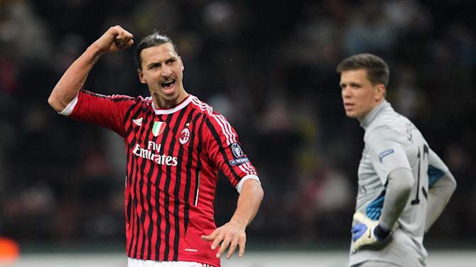 Zlatan Ibrahimovic (left)