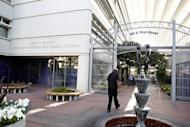 The Robert F. Peckham United States Courthouse Building where Apple and Samsung are facing each other in a patent infringement case, is pictured in San Jose, California
