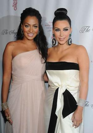 La La Anthony and Kim Kardashian attend Gabrielle's Angel Foundation for Cancer Research Hosts Angel Ball 2011 at Cipriani, Wall Street on October 17, 2011 in New York City -- Getty Premium