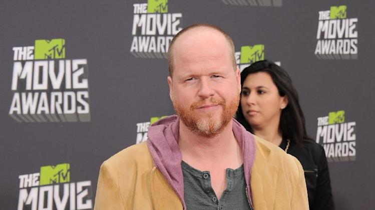 Director Joss Whedon arrives at the MTV Movie Awards in Sony Pictures Studio Lot in Culver City, Calif., on Sunday April 14, 2013. (Photo by Jordan Strauss/Invision/AP)