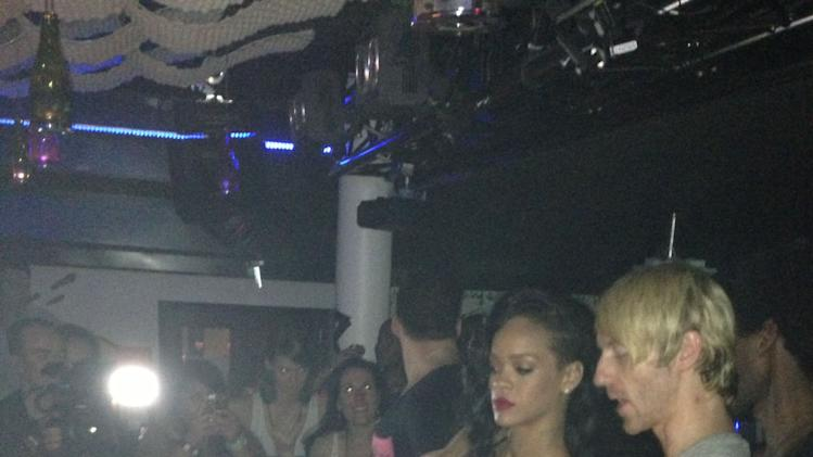 Rihanna earns bartending credits at 777 Tour after party in Stockholm. (photo: Daniel Sena)