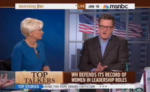 Joe Scarborough Told 'You're Being Chauvinistic' (Video)
