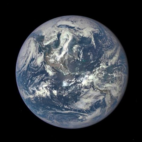 The DSCOVR satellite took this photo on July 6, 2015. It's the first image of Earth's entire sunlit side ever taken by DSCOVR, which launched in February 2015 and is a joint project involving NASA, NOAA and the U.S. Air Force.