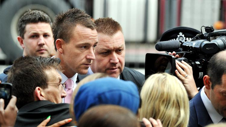 John Terry (second left) can expect a verdict on Friday afternoon
