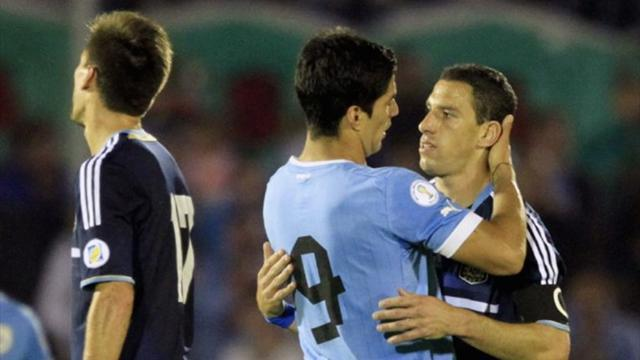 World Cup - Uruguay beat Argentina but play-off beckons