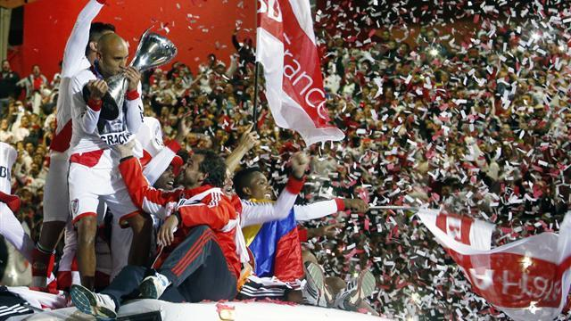 South American Football - River Plate seal Argentine title with five-goal rout