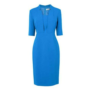 L.K. Bennett Detroit fitted dress in snorkel blue, $395, lkbennett.com