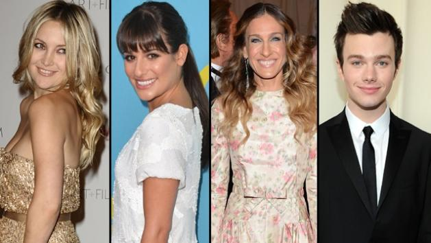 Kate Hudson, Lea Michele, Sarah Jessica Parker, Chris Colfer -- Getty Images